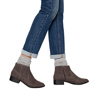 b81f60f8a75 Mantaray Womens Grey Suedette  Maggie  Block Heel Ankle Boots ...