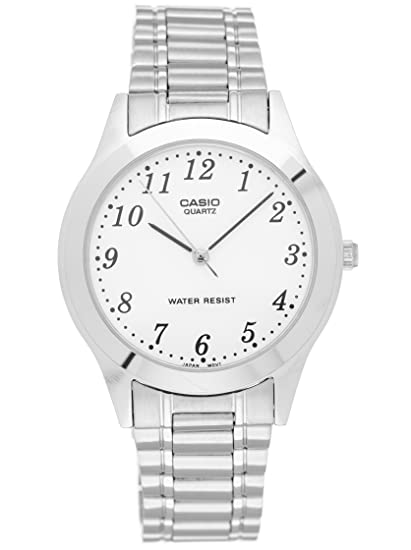Casio MTP-1128A-7BEF - Reloj (Reloj de Pulsera, Acero Inoxidable,