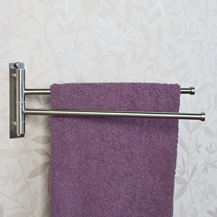 Amazoncom Naiture Solid Brass Double Swing Arm Towel Bar In