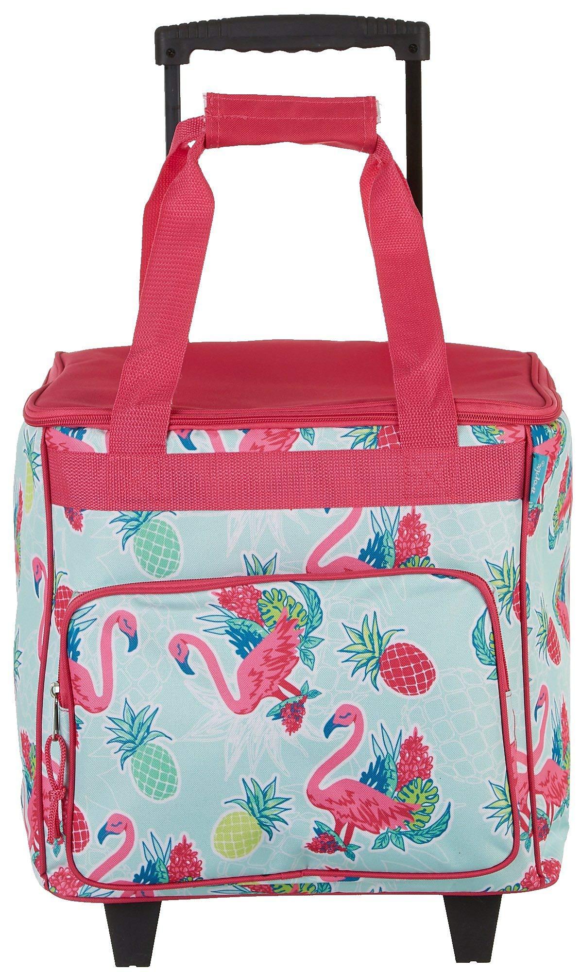 Tropix Flamingo Pineapple Rolling Cooler One Size Pink/Blue/Green