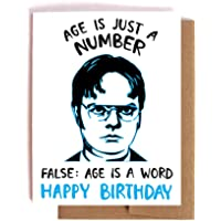Dwight Schrute Birthday Card -- The Office Bday Card