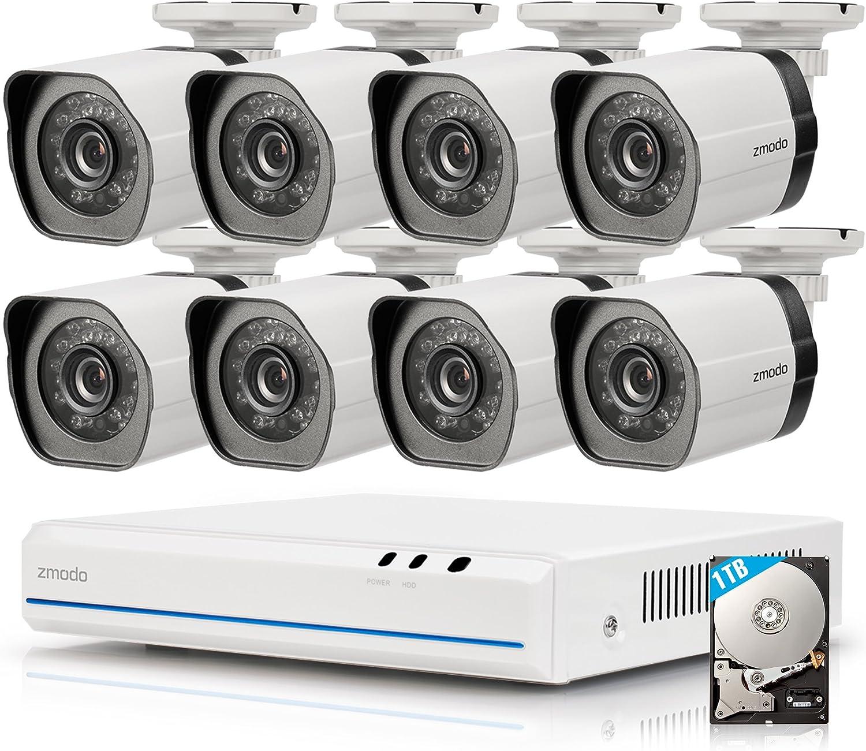 ZMODO ZM-SS78D9D8-S 8CH 720p HD G2 sPoE /Überwachungskamera System mit 8 Indoor//Outdoor IP-Kamera No HDD