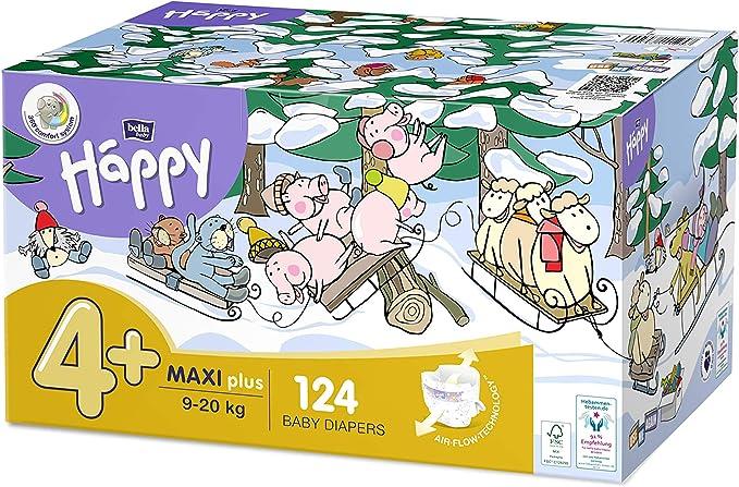 4 paquetes de 24 unidades, 8 a 14 kg, ideal para el entrenamiento de orina Pa/ñales para ni/ños Bella Baby Happy Pants