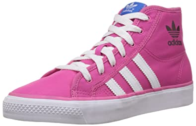 adidas Originals Girl s Nizza Hi K Pink and White Sneakers - 2 UK India ( 6d977ff1e