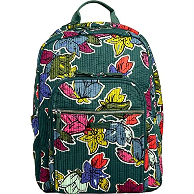 Amazon.com  Vera Bradley Iconic Deluxe Campus Backpack c25a5c071ffcf