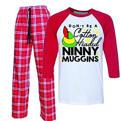 1d1262eef94c Amazon.com  Cotton Headed Ninny Muggins Elf Movie Pajamas Matching ...