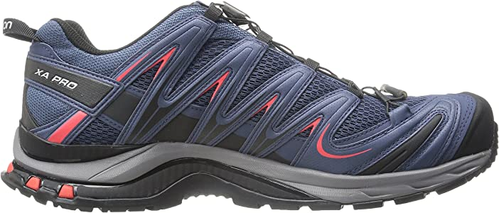 Salomon L37920800, Zapatillas de Trail Running para Hombre, Azul (Slateblue/Detroit/Radiant Red), 47 1/3 EU: Amazon.es: Zapatos y complementos