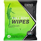 everyHERO Body Wipes 20 Count - No Shower Wipes for Adults - Extra Large for Post Workout, Camping, Travel - Unscented…