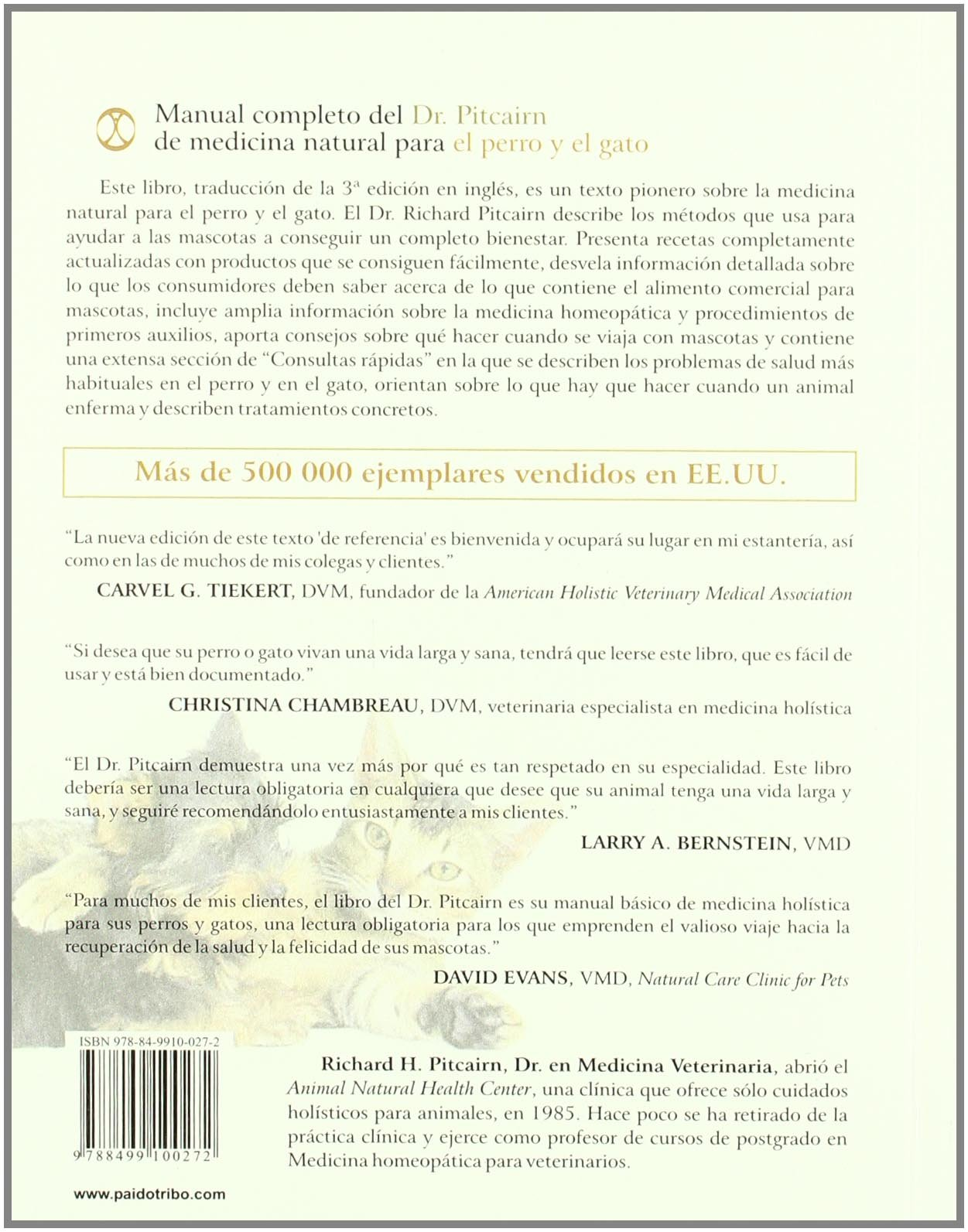 MANUAL COMPLETO DEL Dr. Pitcairn DE MEDICINA NATURAL PARA EL PERRO Y EL GATO (Spanish Edition): Richard H..Pitcairn, Susan H..