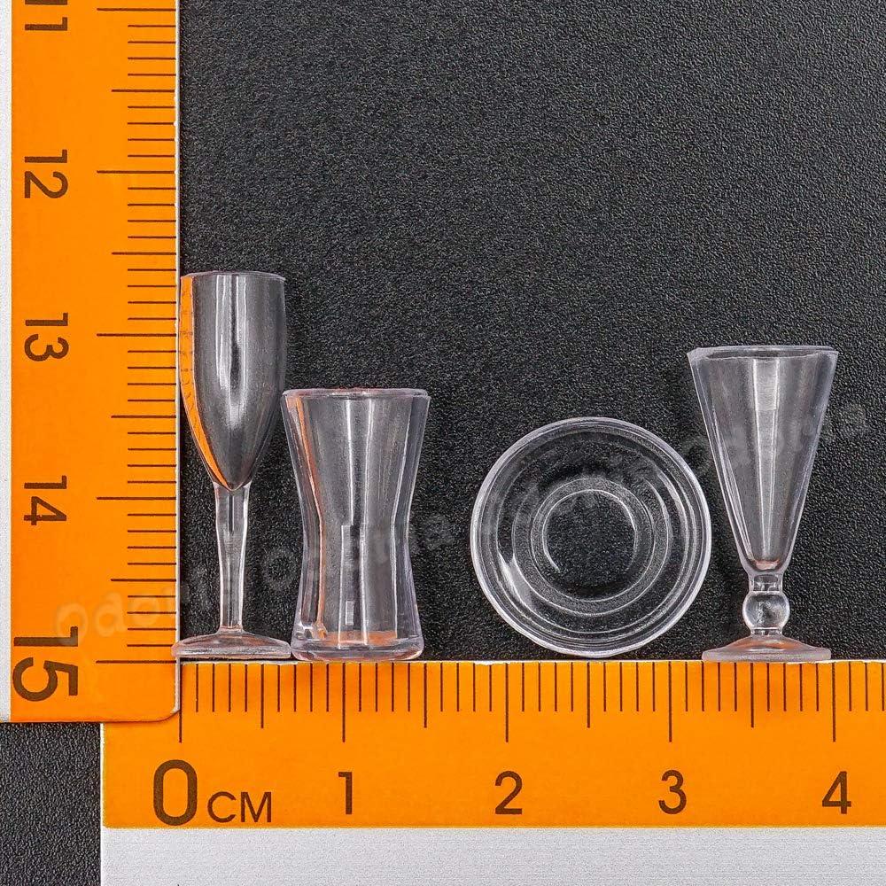 Dollhouse 15 Pièce Cuisine verrerie Set en échelle 1:12