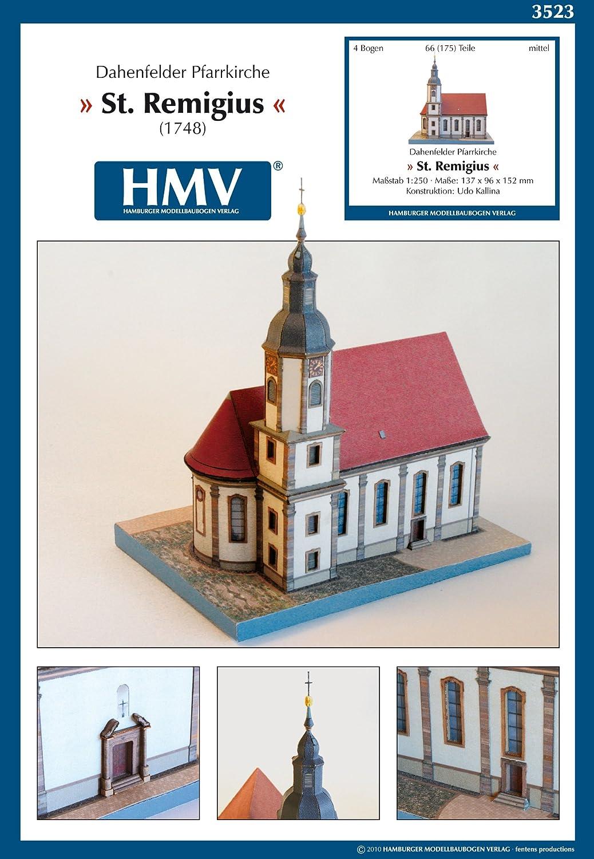 Hamburger Modellbaubogen Verlag 103523 <カードモデル>1:250 教会セイント・レミギウス Dahenfeld HMV