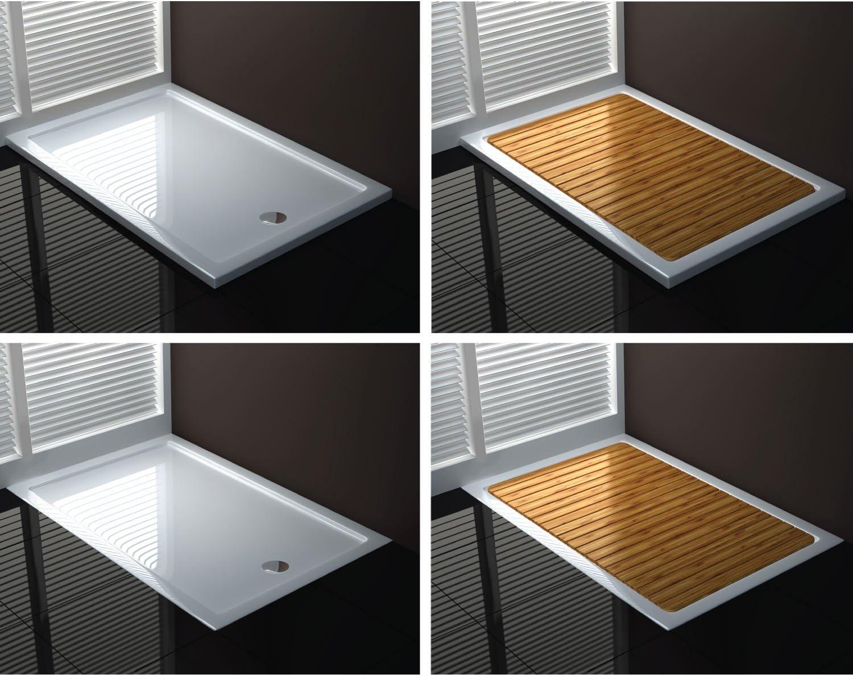 UltraFlat Receveur de douche 80x140x4 rectangle acrylique mod