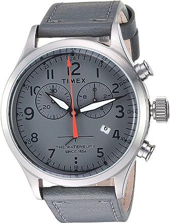 bfe140127 Amazon.com: Timex Men's Waterbury Traditional Chrono Grey/Grey One Size:  Watches