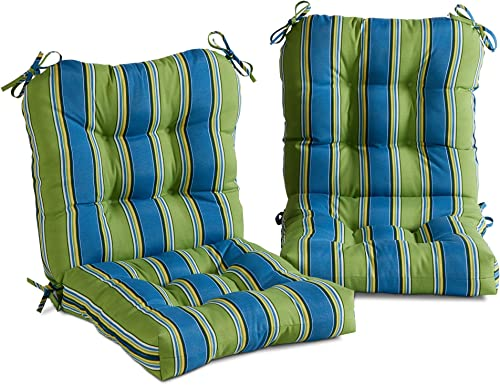 South Pine Porch AM6815S2-CAYMAN Cayman Stripe Outdoor Seat/Back Chair Cushion