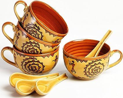 Kleo – cerámica porcelana Jumbo sopa cuencos tazones de arroz, cuenco para cereales, cuenco