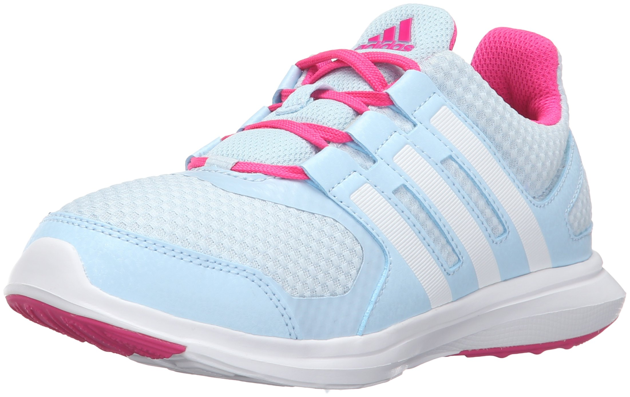 detailed pictures 85a92 be5ad Galleon - Adidas Girls  Hyperfast 2.0 K Running Shoe, Ice Blue White Shock  Pink, 6.5 M US Big Kid