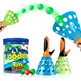 YoYa Toys Pop & Catch Launcher Basket With 3 Balls   For Girls, Boys, Adults, Indoors & Outdoors   Promote Fine Motor Skills, Improve Kinesthetic Learning & Hand To Eye Coordination   In A Carry Bag