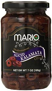 Mario Camacho Foods Sliced Kalamata Mediterranean Olives, 7 Ounce