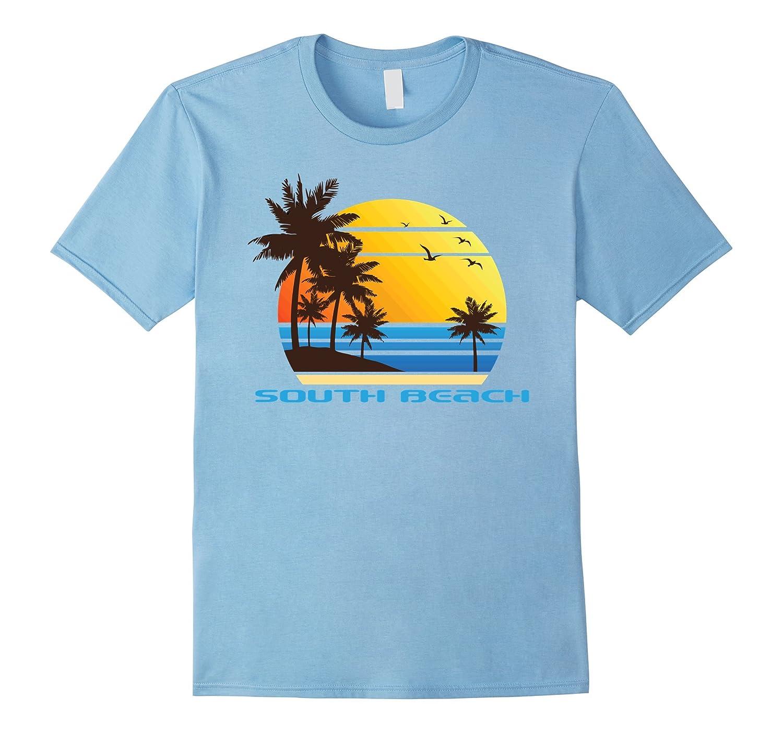 South Beach Surf T-Shirt Summer Sun Fun Ski Tee Shirt-T-Shirt