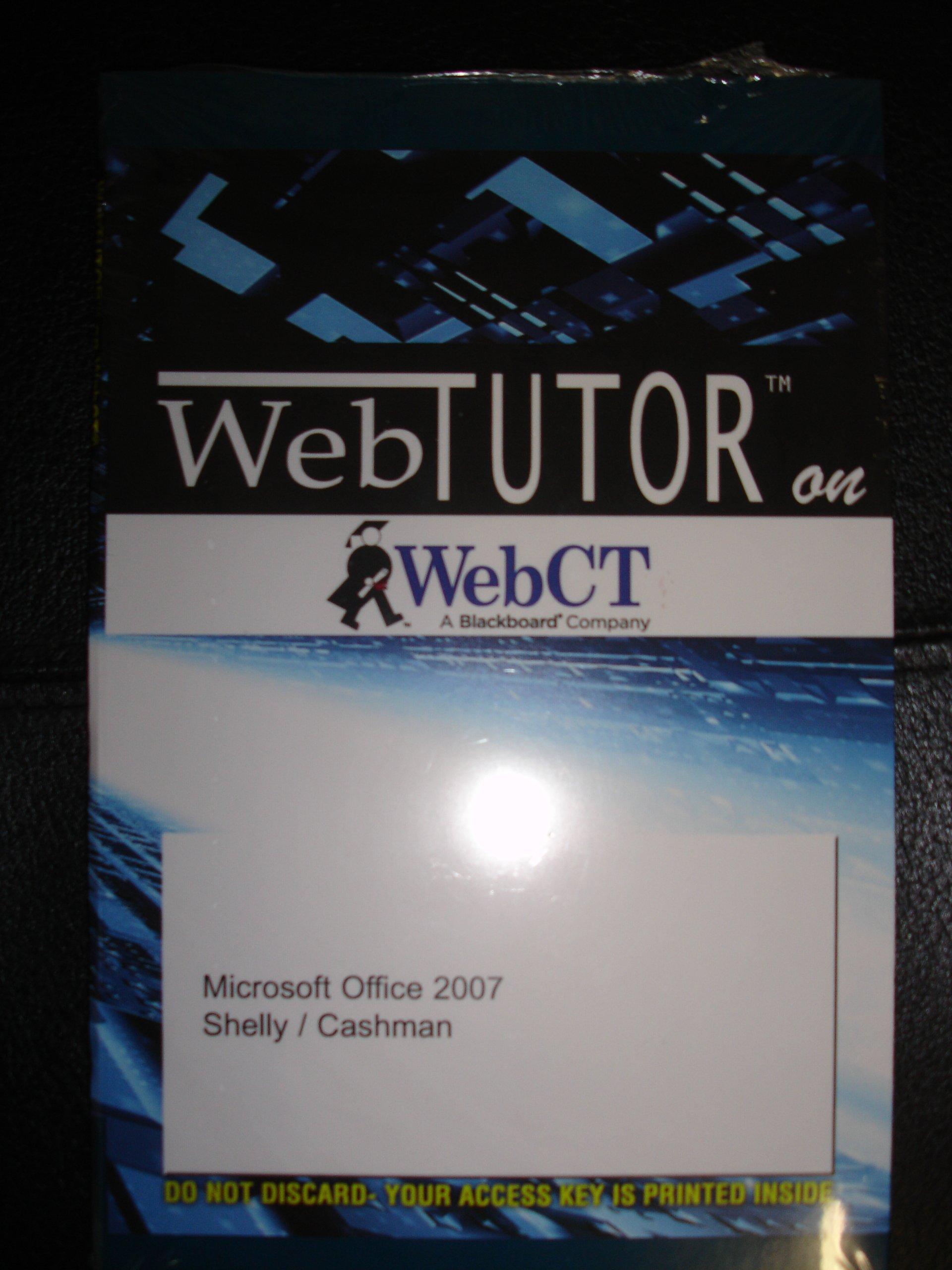 Read Online Web Tutor for Microsoft Office 2007 ebook