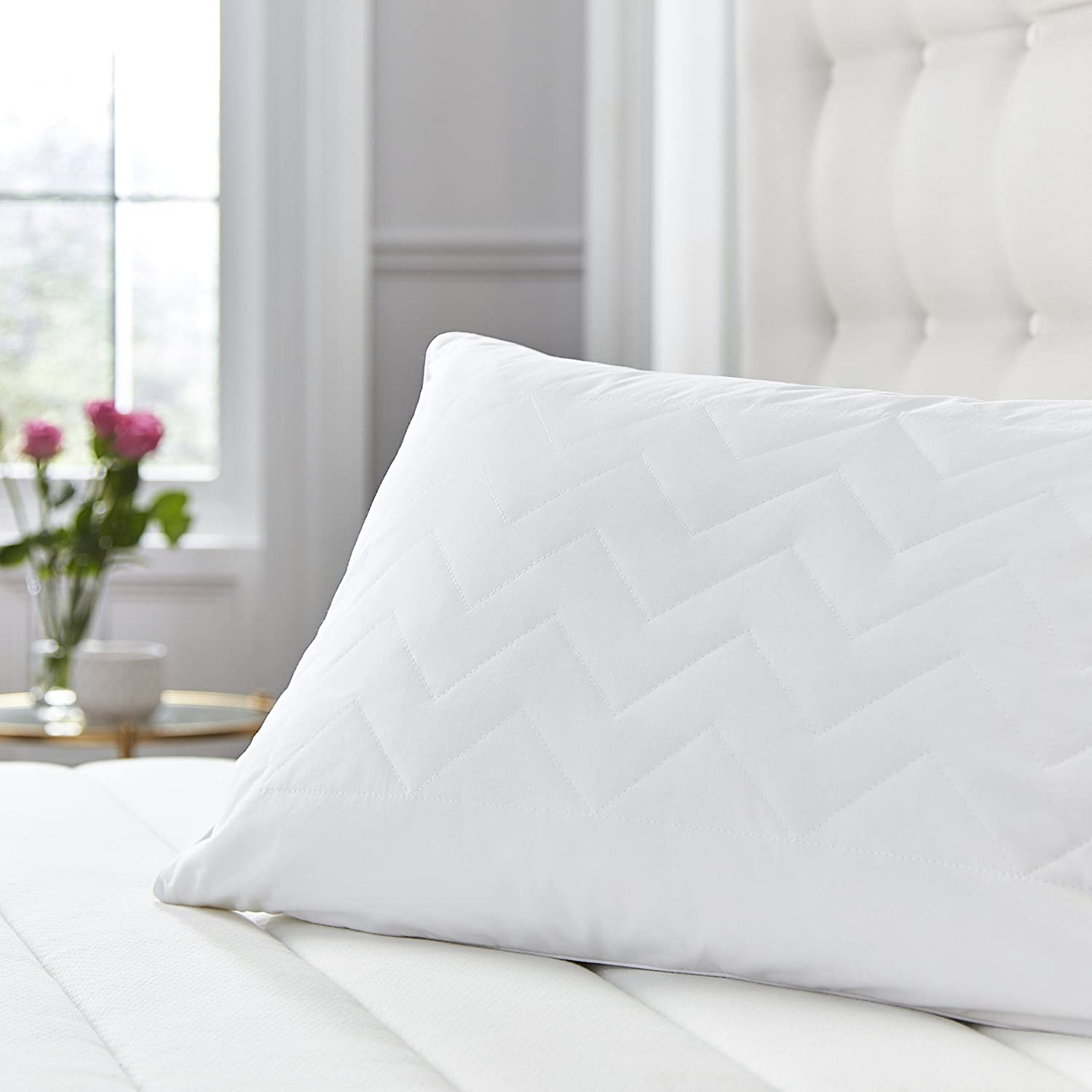 Single Silentnight Quilted Wool Pillow Blend White