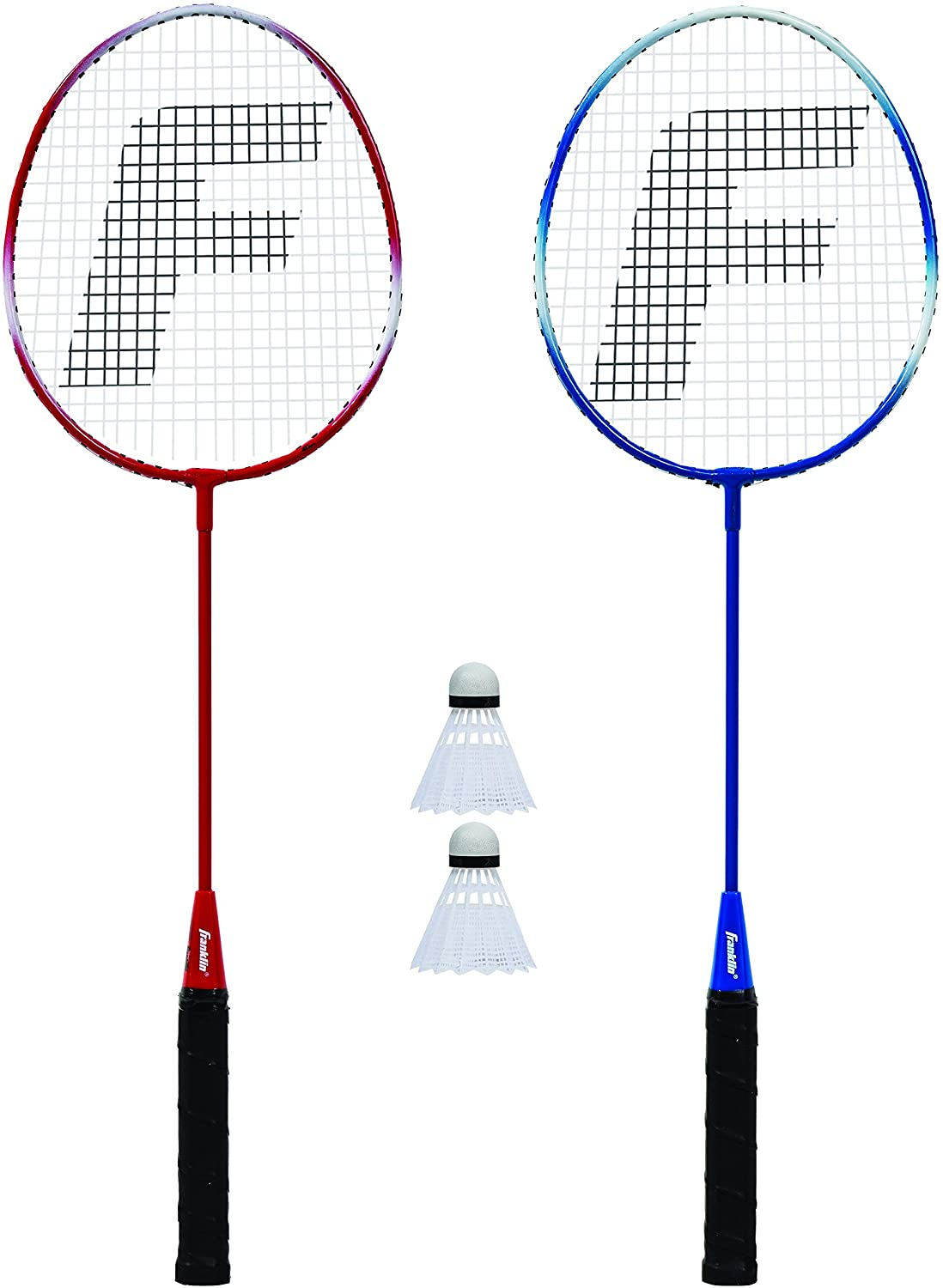 Franklin Sports 2 Player Badminton Racquet Replacement Set, One Size, Red, White, Blue (52623X) : General Sporting Equipment : Sports & Outdoors