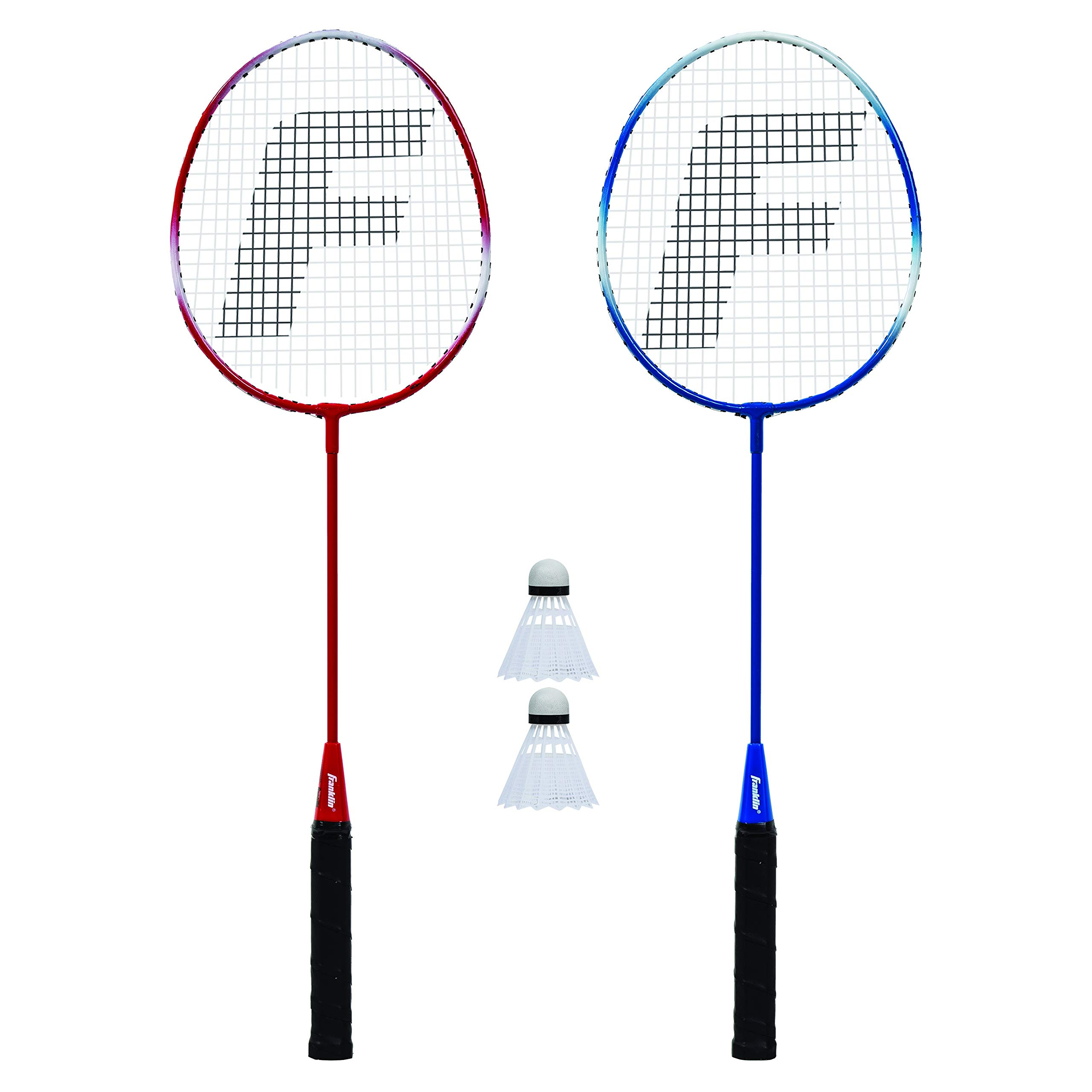 Franklin Sports 2 Player Badminton Replacement Set - 2 Badminton Racquets and 2 Shuttlecocks - Adults and Kids Backyard Game