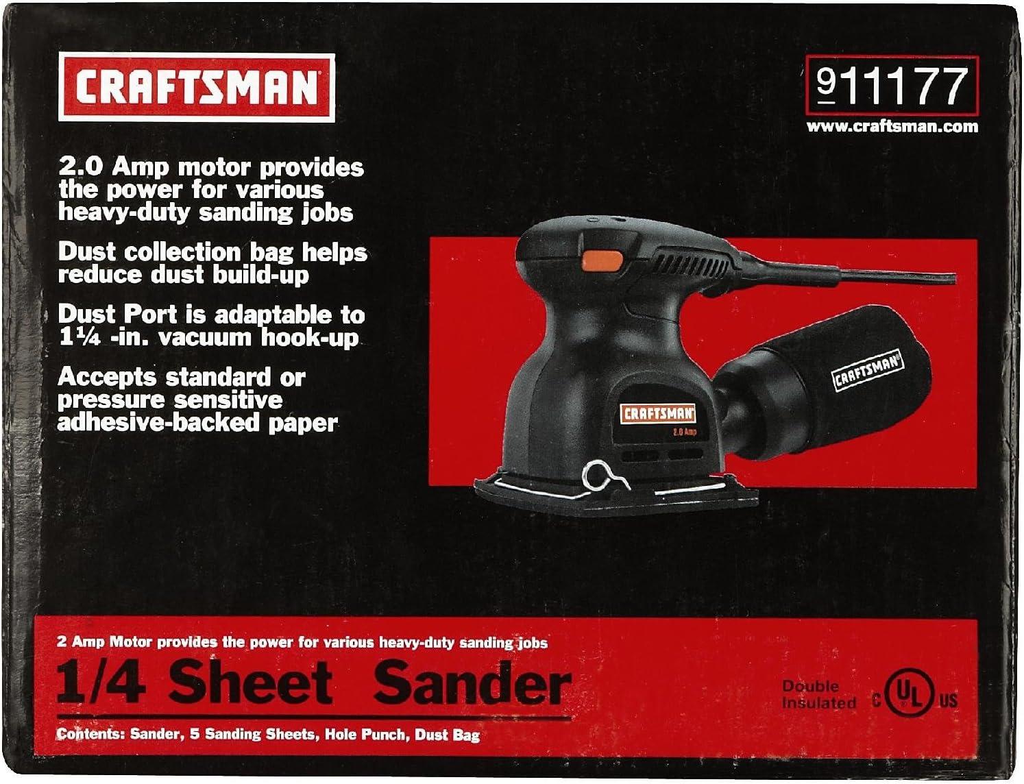 CMEW230 CRAFTSMAN Sander 1//4-Inch Sheet
