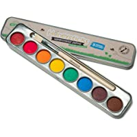 Honeysticks Non Toxic Watercolour Paint Set for Kids and Toddlers - 8 Vibrant and Long Lasting Colours with Brush…