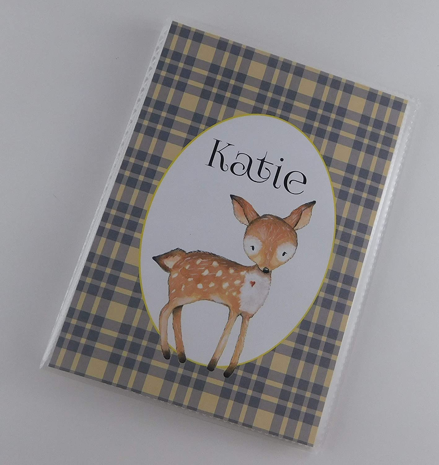 Woodland Photo Album 4x6 or 5x7 Pictures Deer Personalized with your NAME IA#018