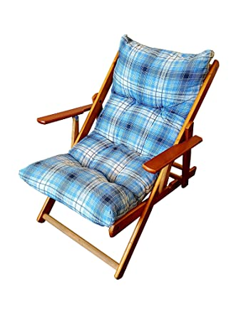 Sedia Sdraio In Legno Imbottita.Sedie Da Esterno Sdraio Poltrona Relax Imbottita Sdraio In Legno