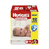 Amazon Price History for:Huggies Snug and Dry Diapers, Size 1, 112 Count