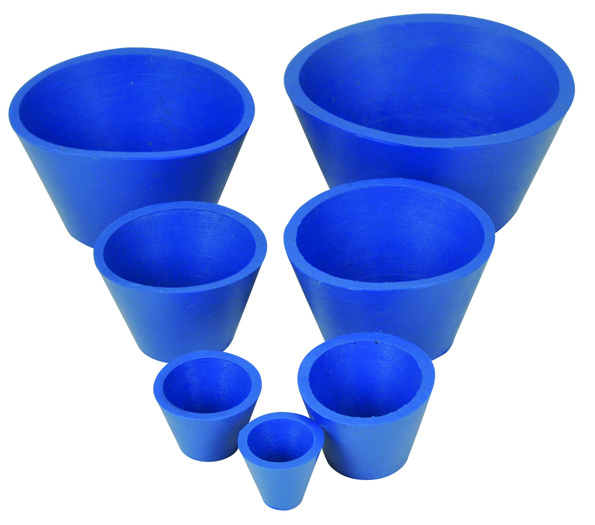 Rubber Filter Adapter Cones for Buchner Funnels - Set of 7 by EISCO (Image #1)