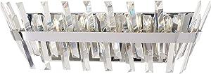 Minka Lavery Wall Light Fixtures 4814-77 Echo Radiance Bath Vanity Lighting, 5-Light 300 Watts, Chrome