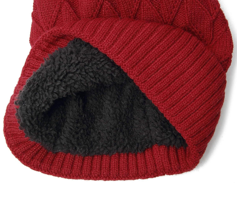 JARSEEN Knit Slouch Trendy Beanie Hats Thick Soft Warm Winter Hats Skully Cap for Men Women Unisex