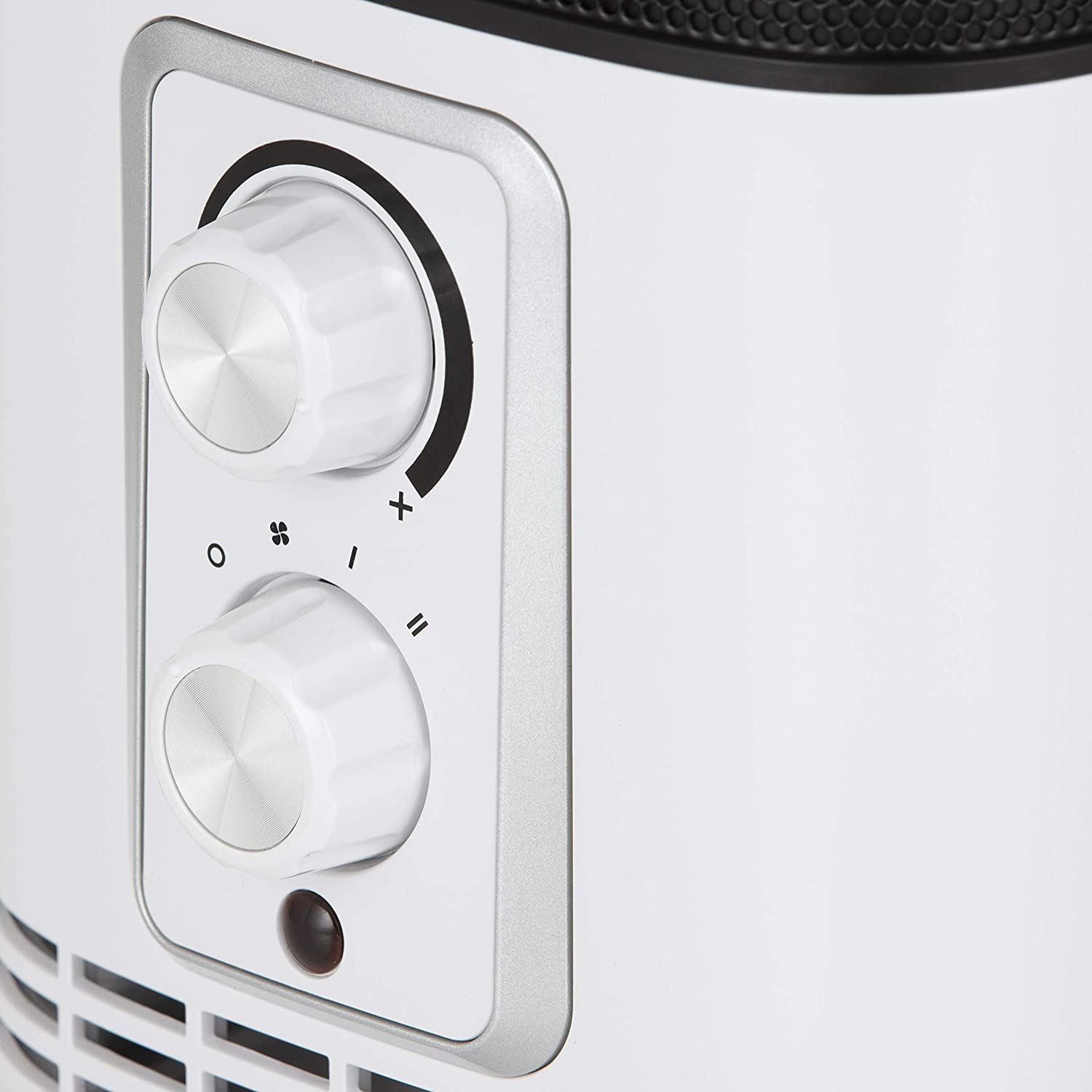 BLACK+DECKER BXSH37001GB Ceramic Lightweight Portable Fan Heater with 360 Degree Distribution and 2 Heat Setting and Cool Air Blow Function White 1500 W
