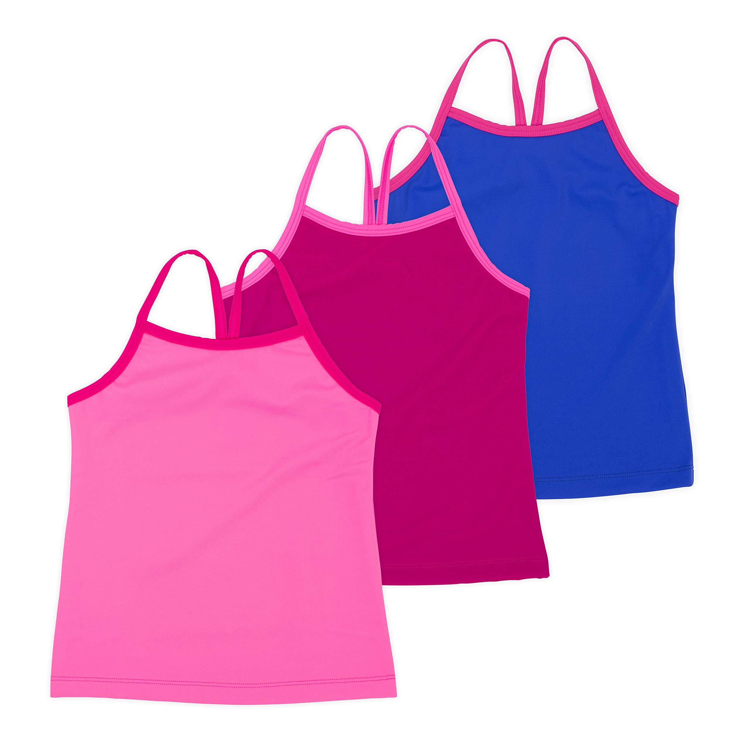 Lucky & Me Ella Girls Dance Tank Top, Gymnastics & Dancewear, 3-Pack, Pink Lemonade 6