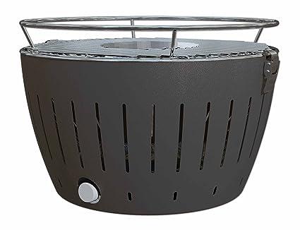 LotusGrill – Barbacoa de carbón Vegetal sin Humos – con Turbo Ventilador para calefacción rápida –