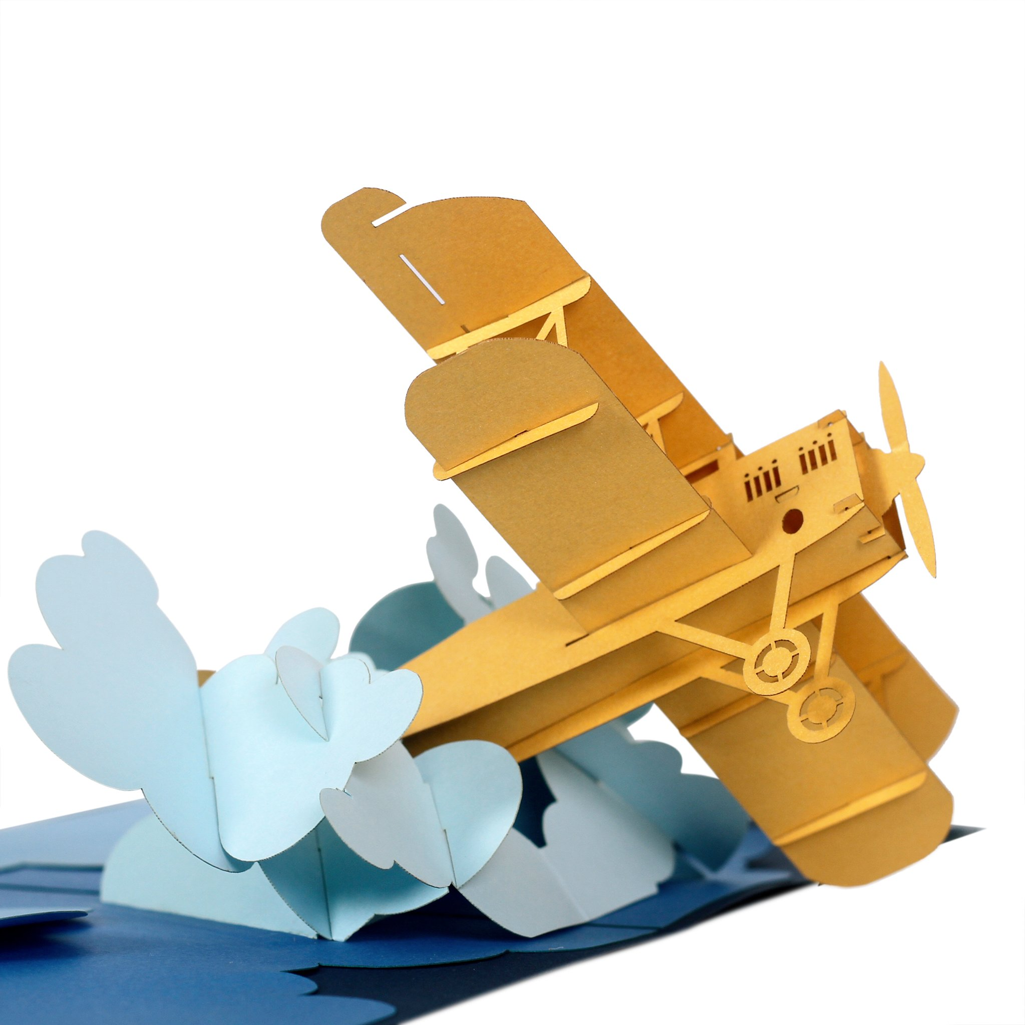 CUTEPOPUP 3d Pop Up Greeting Card AIRPLANE Flying Plane Best Gift Idea for Friends and Family, Thank You Cards, Valentine, Birthday.