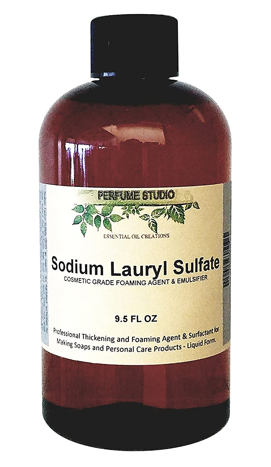 Perfume Studio Soap Making Supplies: Sodium Lauryl Sulfate (Liquid Form SLS); Personal Care Foaming Detergent Product and Professional Surfactant Raw Material – 9.5 OZ / 280 ML SLS9OZPET