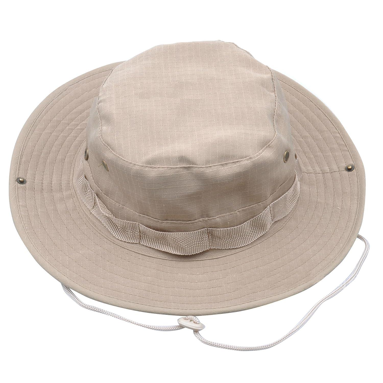 JITTY Sombrero Militar del Camuflaje Sombrero Redondo del Sol Sombrero Barril De Los Hombres Y Las Mujeres,Sombrero del Pescador