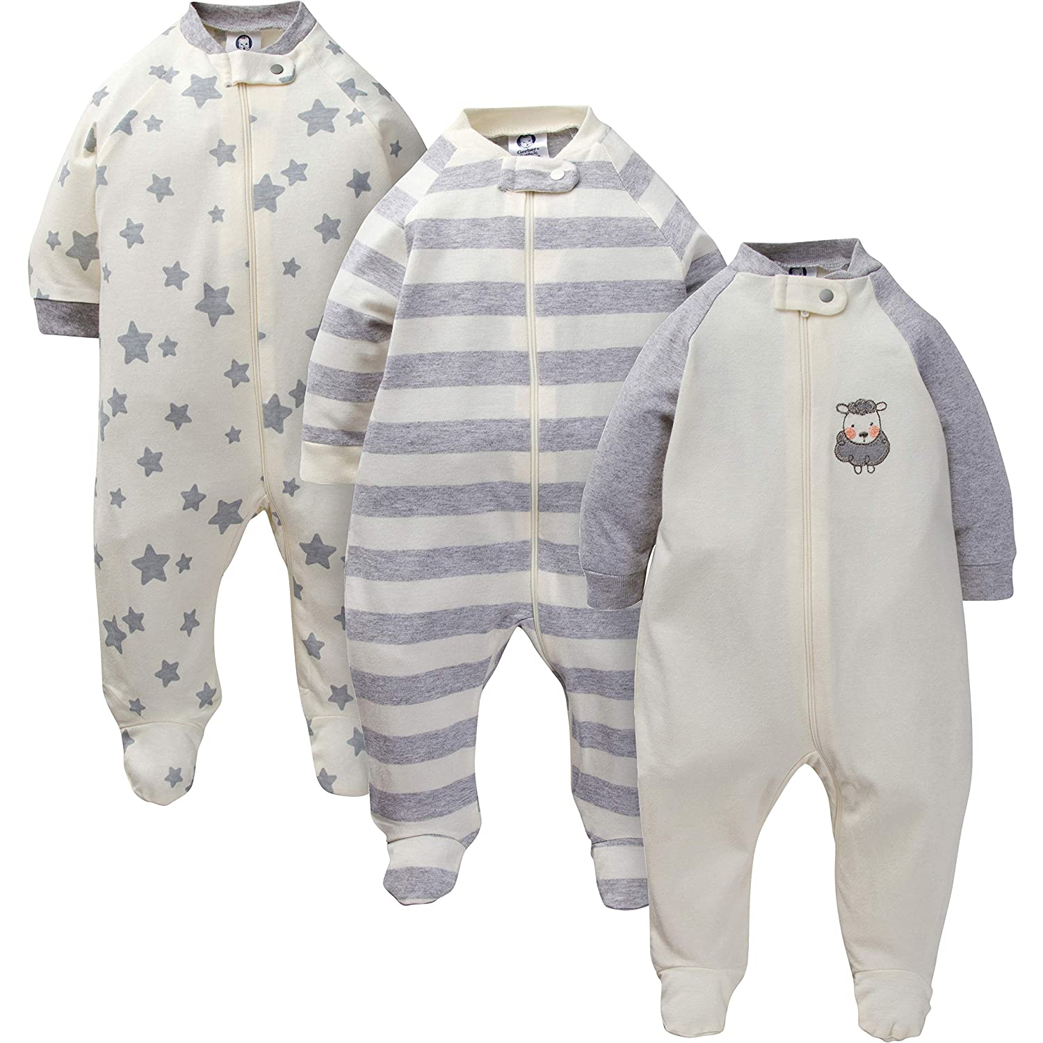 Gerber Baby 3-Pack Organic Sleep 'N Play