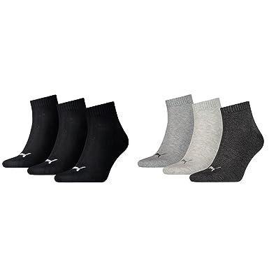 6 Paar PUMA Sneaker Socken Quarter 47 49 schwarz