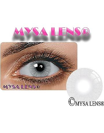 MYSALENS® Lentilles De Contact De Couleur Hidrocor Icy Gray Gris Naturelle  Avizor Solution Multifonctions 10ML 07253ac139c7