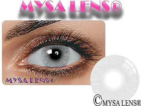 8b776e63793478 MYSALENS® Lentilles De Contact De Couleur Hidrocor Icy Gray Gris Naturelle  Avizor Solution Multifonctions 10ML