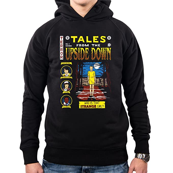 PacDesign Sudadera con Capucha Hombre Tales from The Upside Down Stranger Things Op0051a: Amazon.es: Ropa y accesorios