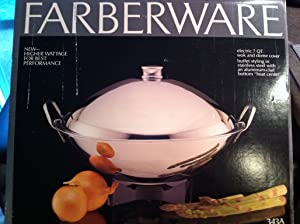 Farberware Electric 7 Quart Stainless Steel Wok