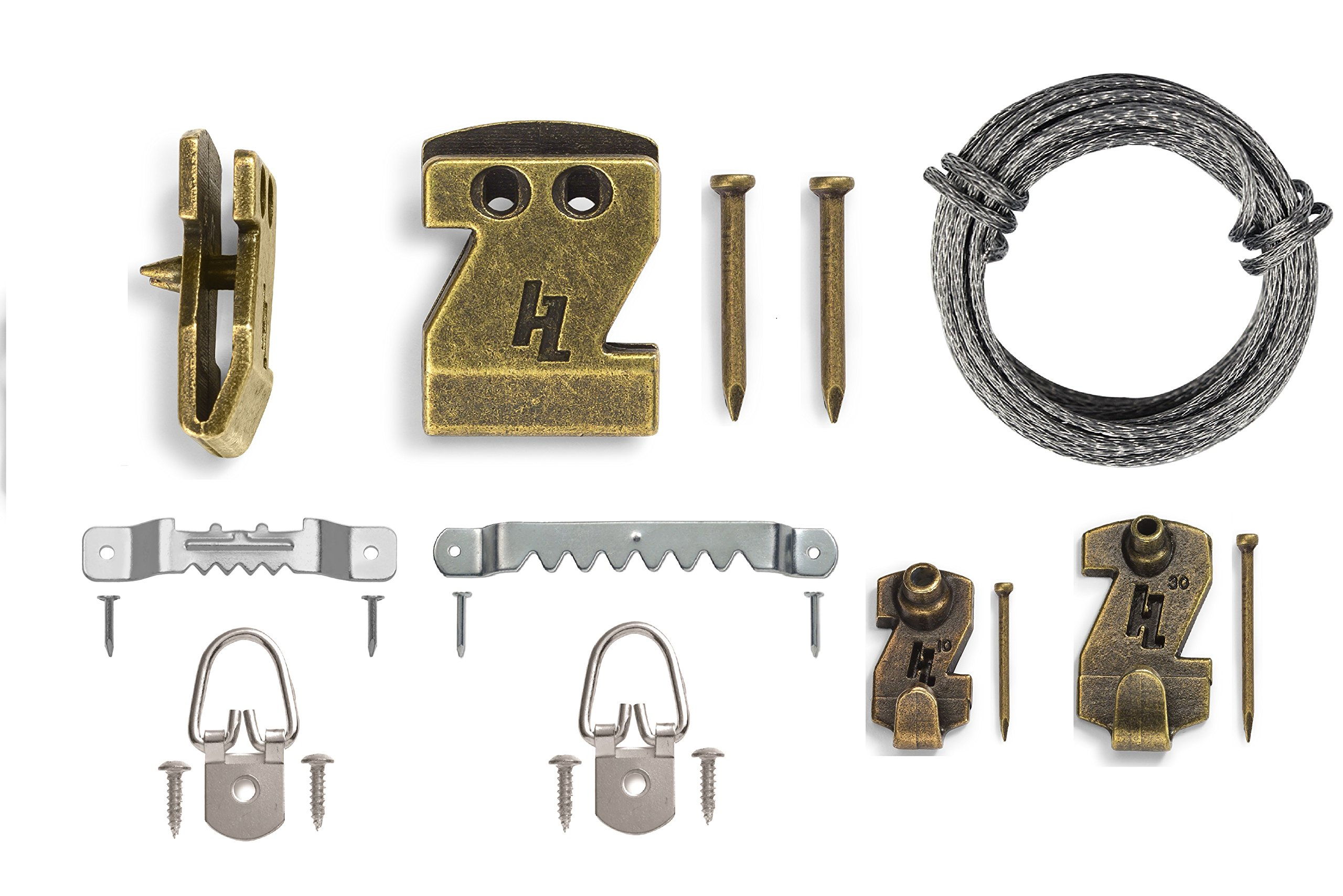 HangZ 11103 Professional Picture Hanging Kit, 10lb-30lb