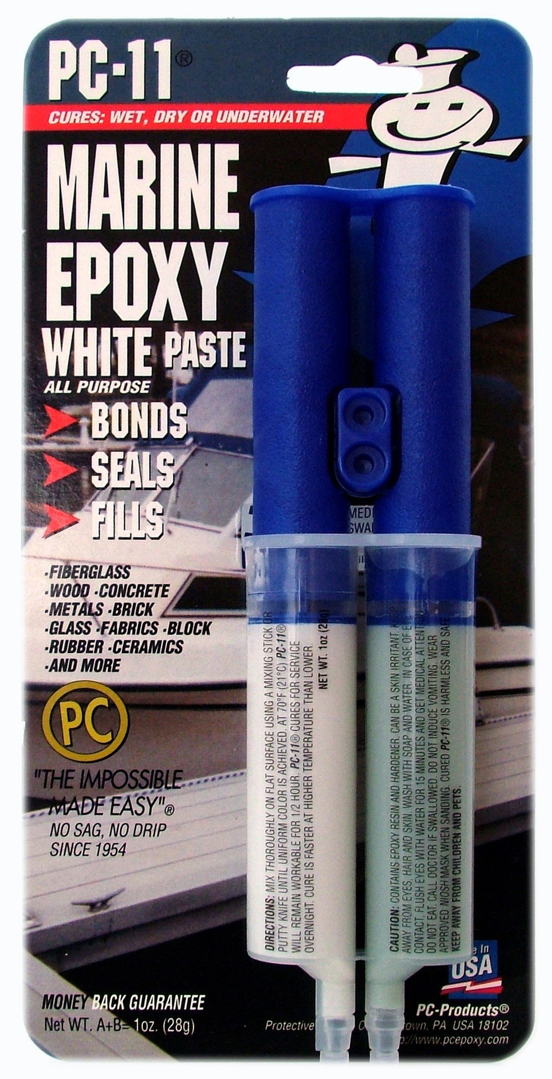 PC Products 010112 1 Oz White Marine Epoxy Paste