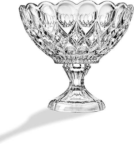 STUDIO SILVERSMITHS Glass Footed Flower Bowl Canterbury Vase – 8.5